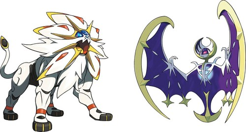 pokémon wallpaper called Solgaleo & Lunala artwork