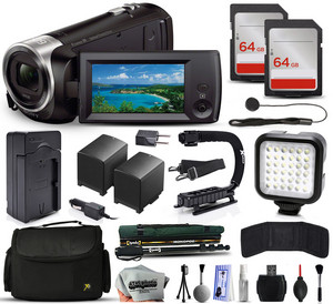 Sony Handycam HDR-CX405 with accessories