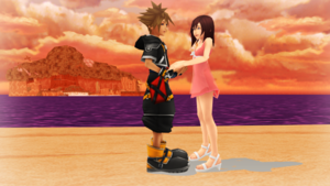 Sora and Kairi Dancing in the Destiny Island.