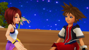 Sora and Kairi KH1 Beauitful Promise Fall in Love.