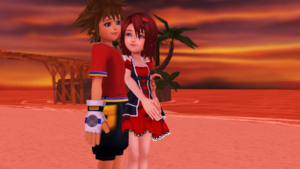 Sora and Kairi KH1 Your My Light.mmd