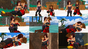 Sora and Kairi KH2 Outfits Romances Couples Finally