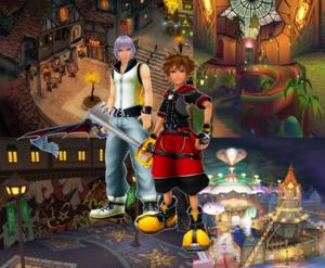 Sora and Riku Traverse Town KH 3D HD DDD