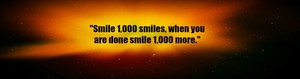 Space/Smile 1,000 smiles - Profile Banner