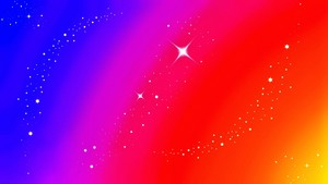 Sparkle Stars Rainbow Wallpaper