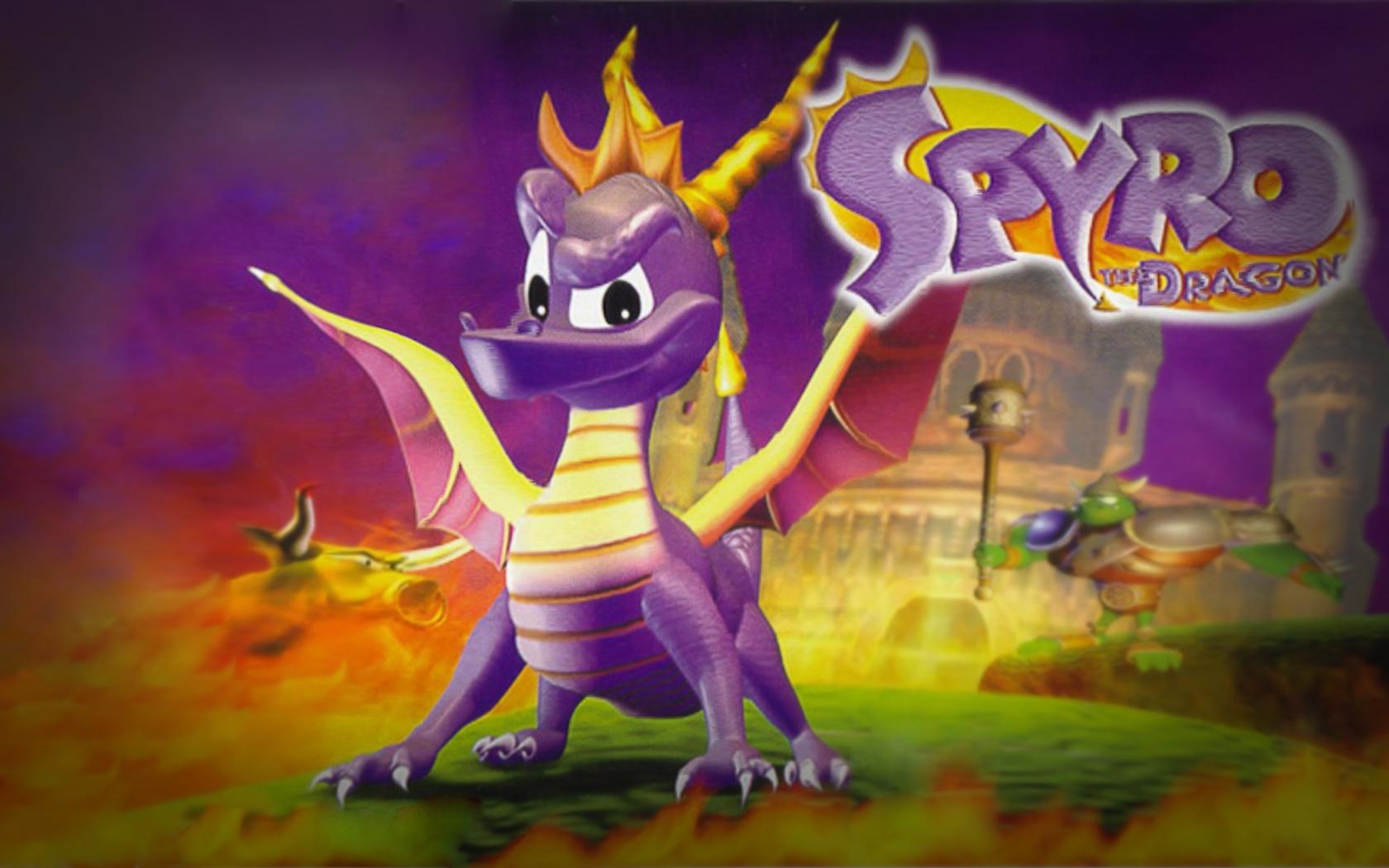 Spyro the Dragon kertas dinding