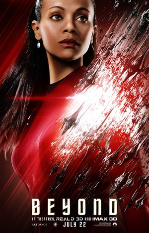 estrella Trek Beyond characters poster - Uhura