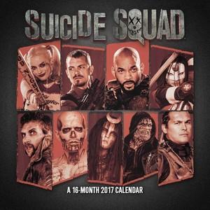Suicide Squad 2017 Calendar - Cover