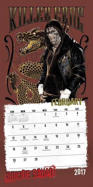 Suicide Squad 2017 Calendar - February - Killer Croc