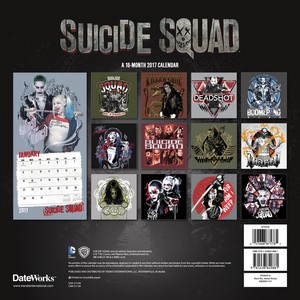 Suicide Squad - 2017 Wand Calendar - Back