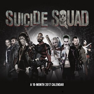 Suicide Squad - 2017 dinding Calendar - Cover
