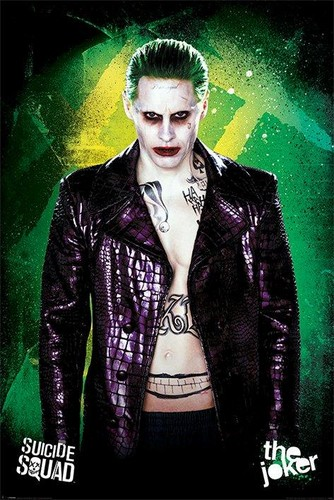 Suicide Squad wallpaper probably with a well dressed person and a business suit entitled Suicide Squad - Joker Poster