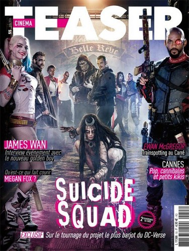 Suicide Squad wallpaper with anime titled Suicide Squad's Cinema Teaser Cover - June 2016