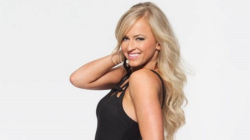 WWE Hintergrund probably containing a maillot, attractiveness, and a bustier called Summer Rae 4