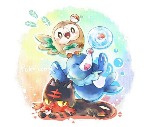 pokémon fondo de pantalla titled Sun and Moon Starters
