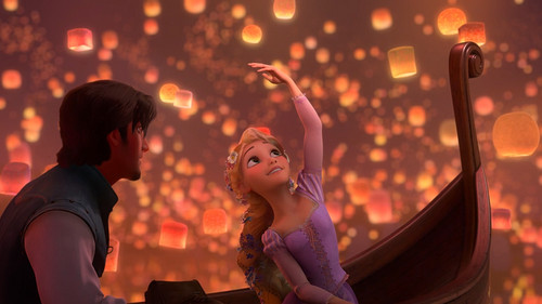 Tangled wallpaper titled Tangled Beautiful Princess on Boat Wallpapers