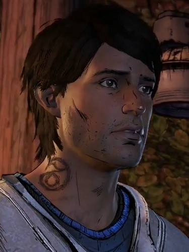 the walking dead wallpaper probably with a portrait entitled Telltale Games' Walking Dead season 3 - Javier Garcia