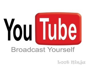 The logo for YouTube