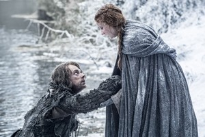 Theon Greyjoy and Sansa Stark in 'The Red Woman'