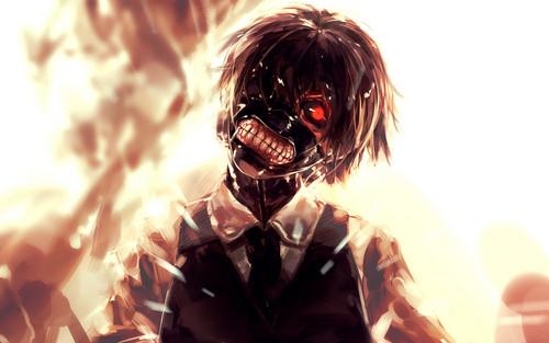 Tokyo Ghoul karatasi la kupamba ukuta titled Tokyo Ghoul