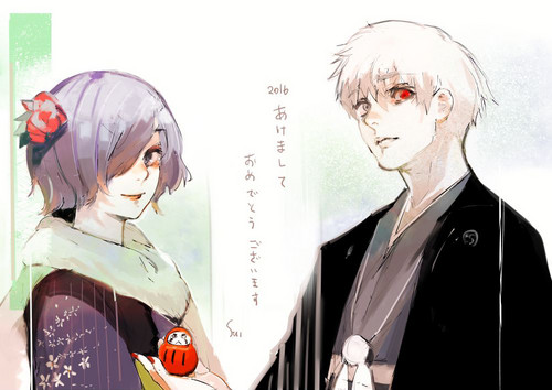 Tokyo Ghoul wallpaper entitled Touka and Ken
