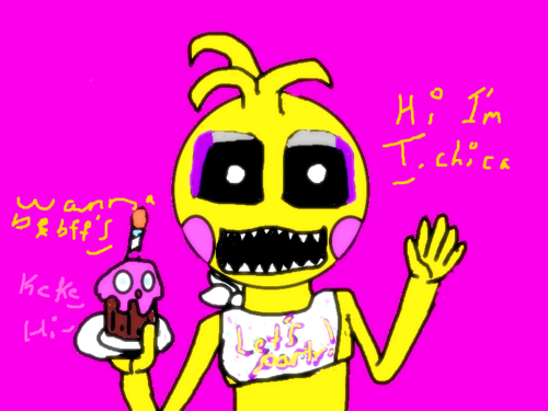 Five Nights at Freddy's پیپر وال containing عملی حکمت entitled Toy Chica L. یا T.Cupcake