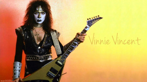 baciare Guitarists wallpaper possibly containing a guitarist and a concerto titled Vinnie Vincent