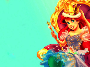 Walt ডিজনি দেওয়ালপত্র - Princess Ariel