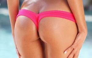 Wet Bikini Bottoms