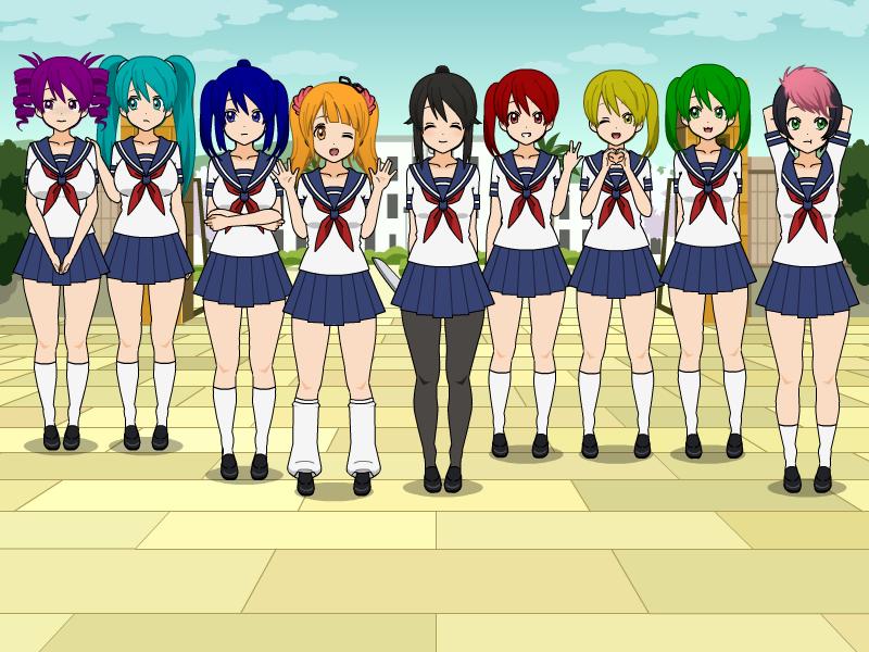 Yandere sim girl characters
