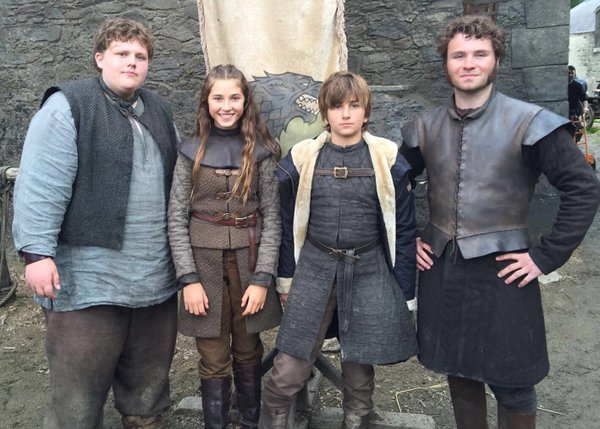 Young Hodor, Young Lyanna, Young Ned Stark and Young(ish) Ser Rodrik