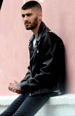 Zayn at a photoshoot in WeHo