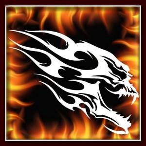 airbrush skull stencils flames