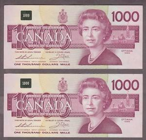canadian 1 thousand dollar bill