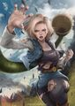 dbz android 18 - dragon-ball-z fan art