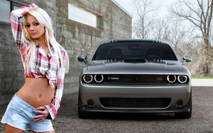 flannel, bunga aster, daisy dukes, shorts, shirt, car, challenger