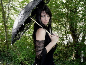 gothic girl پیپر وال (mistabys)
