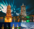 guilin temple before after x2 - photography photo