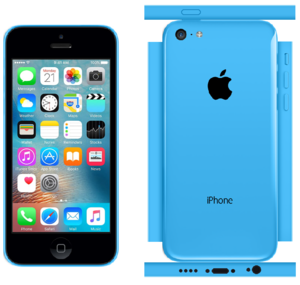 iPhone 5c Papercraft Blue (iOS 9)