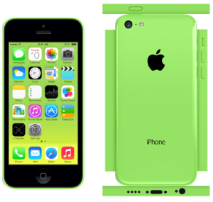 iPhone 5c Papercraft Green