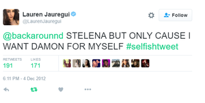 lauren jauregui is team stelena