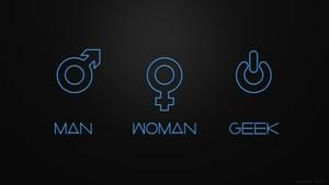 man women geek