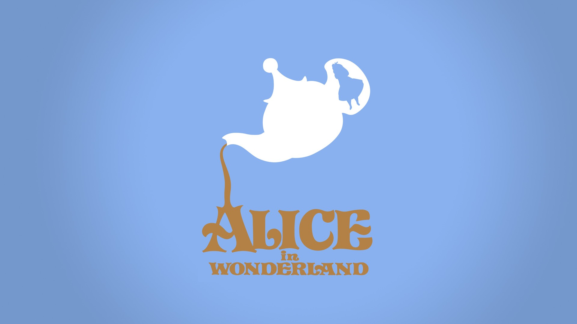 minimalistic alice in wonderland