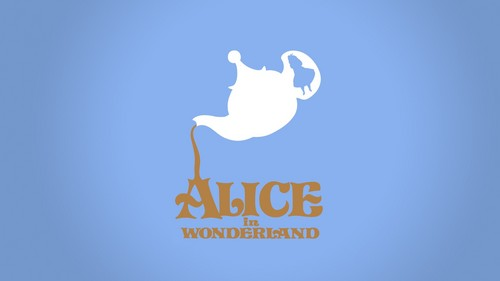 Disney wolpeyper called minimalistic alice in wonderland