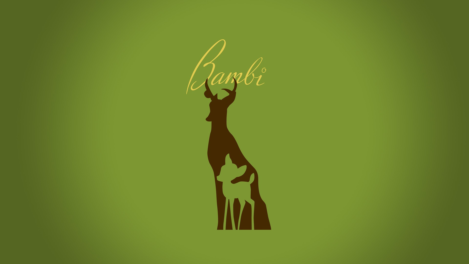 minimalistic bambi hd wallpaper