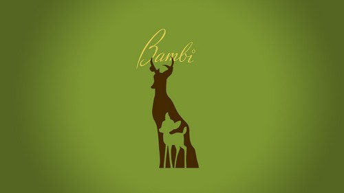 Disney wallpaper probably containing a sign titled minimalistic bambi hd wallpaper