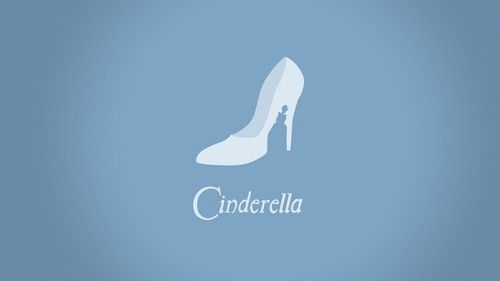 Disney wallpaper entitled minimalistic Cenerentola hd wallpaper