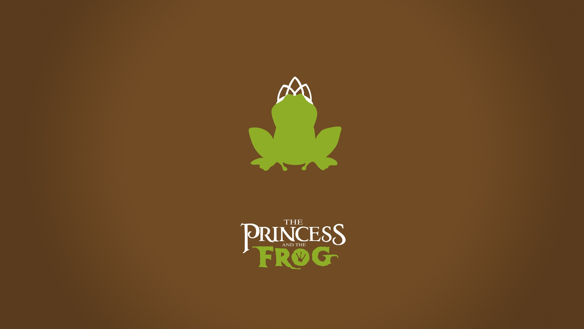 minimalistic princess and the frog