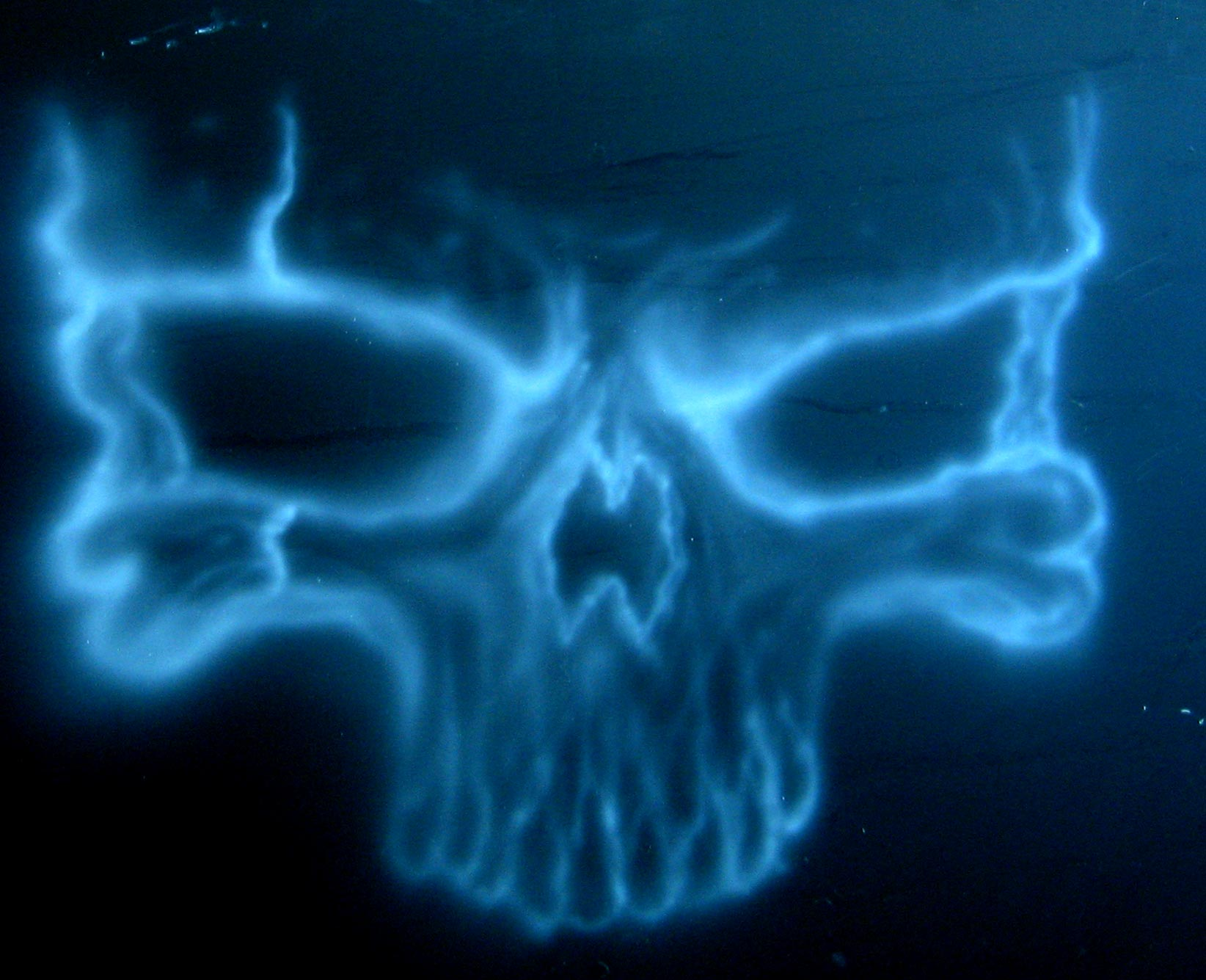my first airbrush skull door shaneoohmac13