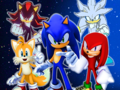 sonic and his 2 friends and 3 rivals  - sonic-the-hedgehog photo